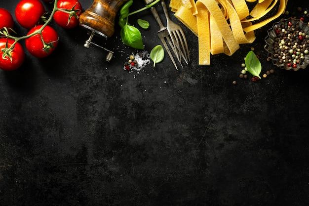 食材を使ったイタリア料理
