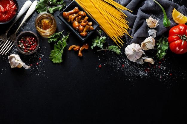 イタリアのキッチンを料理するための材料