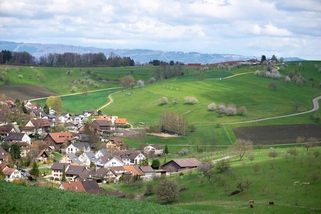 Швейцария, кантон базель, ольсберг, окрестности арисдорфа, ландшафт