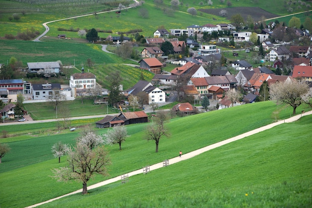 Швейцария, кантон базель, ольсберг, окрестности арисдорфа