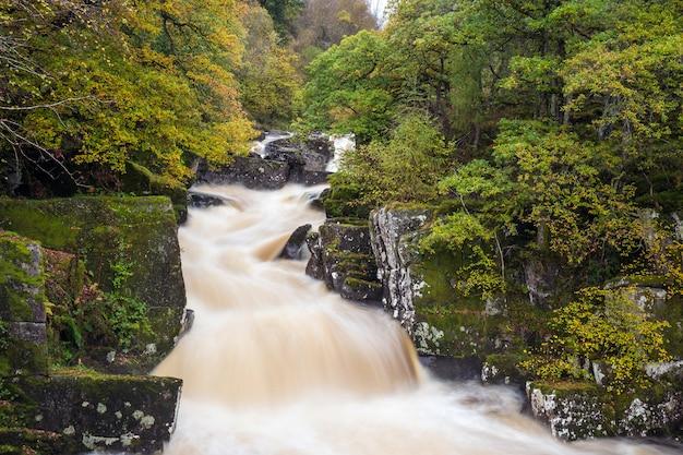 川とスコットランドの風景