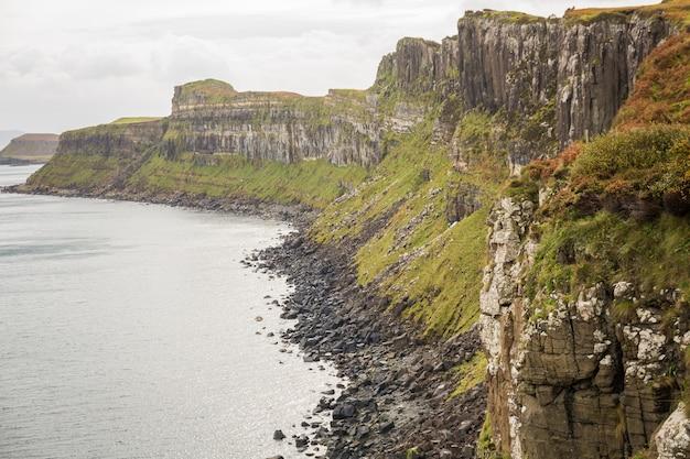 スコットランドの海岸の風景