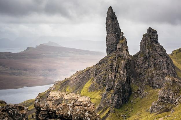 スコットランドの有名な岩