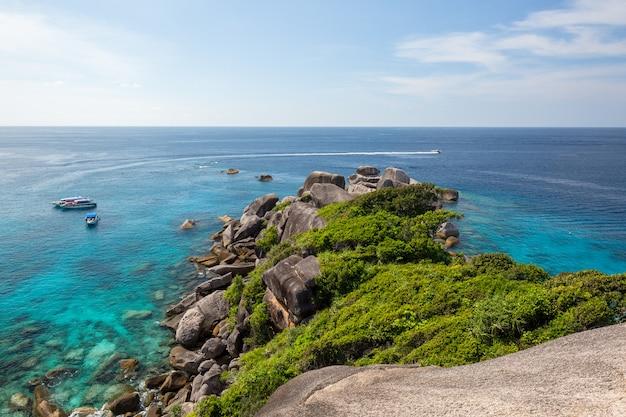 タイの美しい海岸線空撮