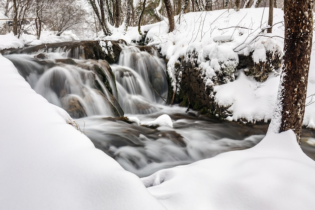 Зимние плитвицкие озера