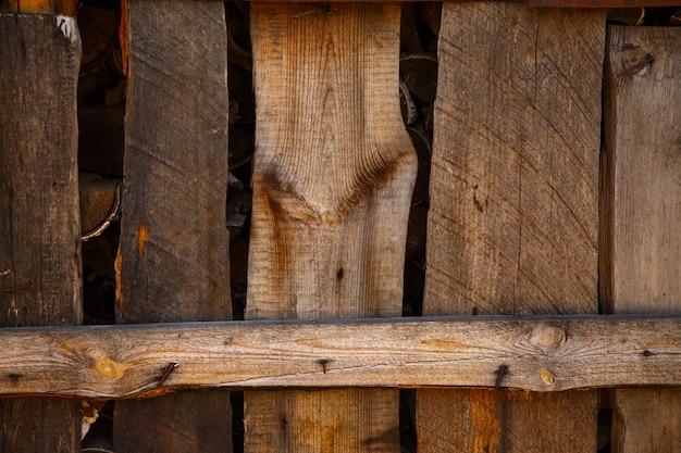 木製のフェンスのテクスチャ