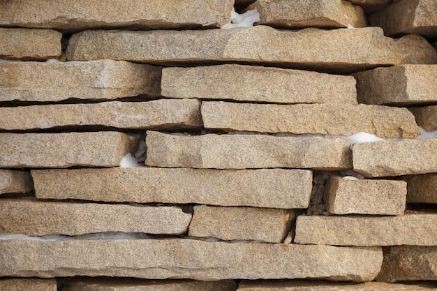 石レンガの壁の背景テクスチャ