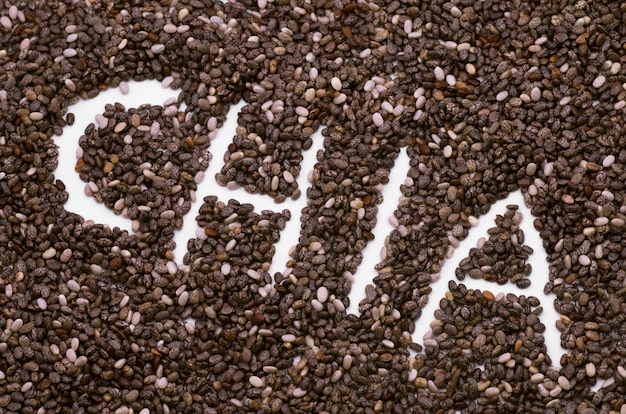 Надпись слова чиа семена