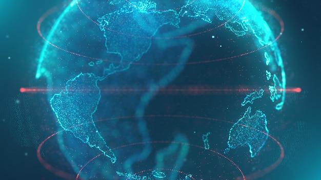 世界地図データ技術