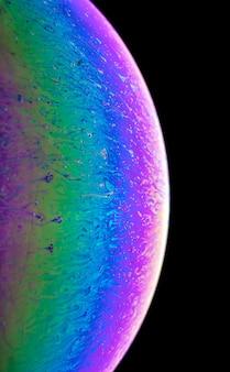 Невероятные фантазии мыльной воды шаблон абстрактный фон полукруг. модель космоса или планеты вселенной. много места для рекламных ярлыков.