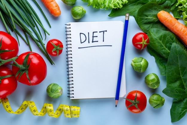 健康的な料理を調理するための野菜。きれいなバランスのとれた食べ物。フィットネス、食物繊維を食べ、正しく食べる