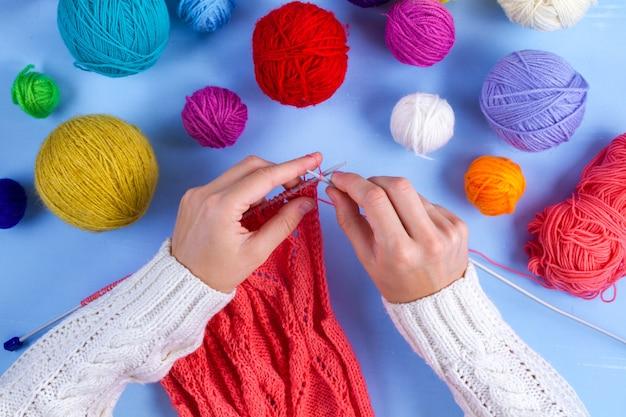 Вязание, хобби, рукоделие,
