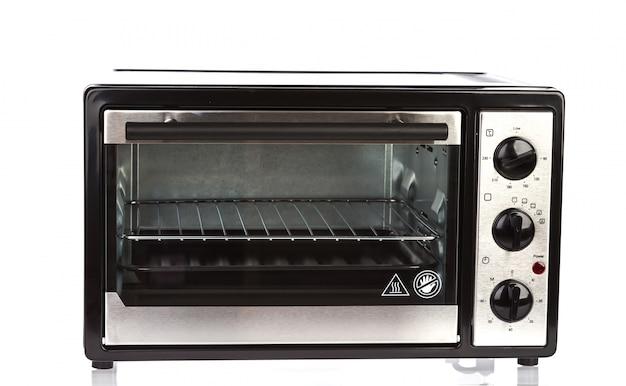 白い背景の上の小さなオーブン