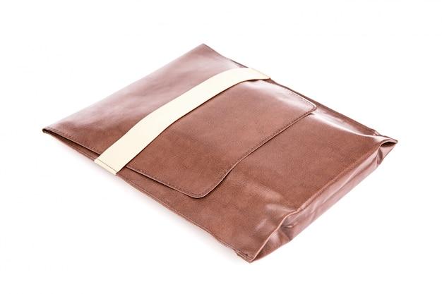 茶色のレザーバッグ