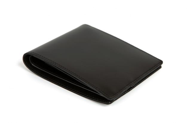 白、隔離された、革の財布