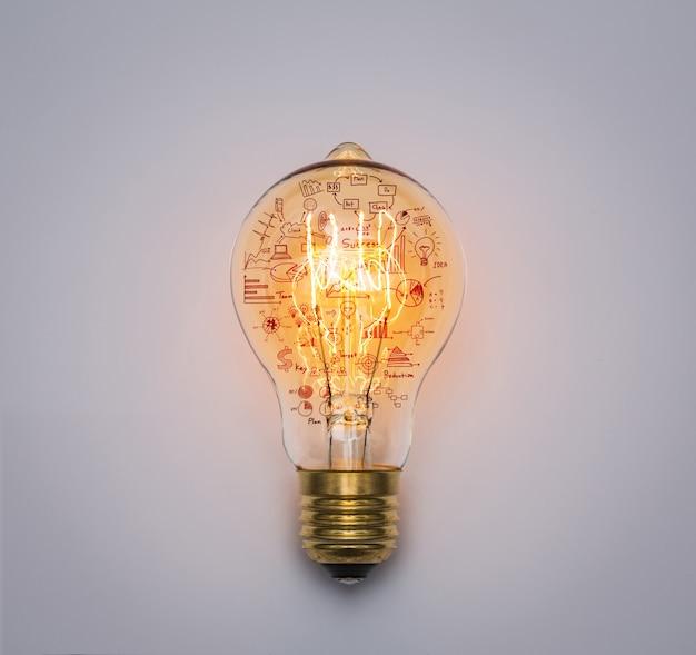 Лампочка с рисования графика