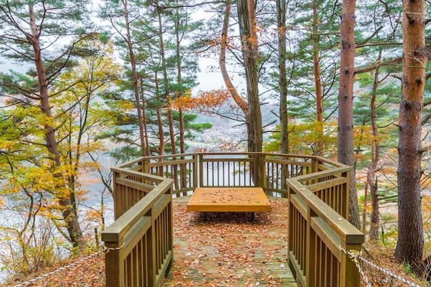 Деревянные скамейки в парке