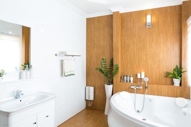 現代の家のバスルームインテリア
