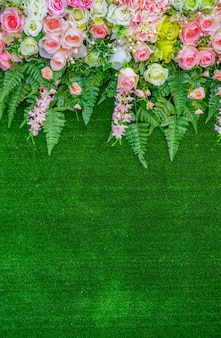 美しい結婚式の花
