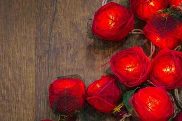 柔らかいテクスチャの植物バレンタインを落とす