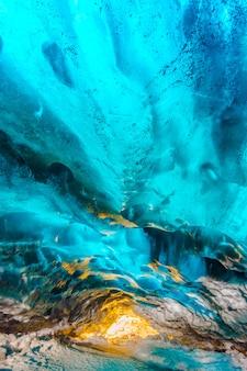 アイスランドの純粋な光の冷たい風景