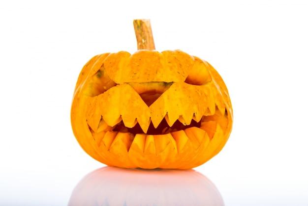 白地にハロウィンかぼちゃ