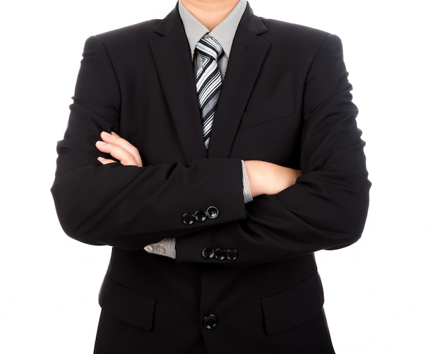 Стильный бизнесмен со скрещенными руками