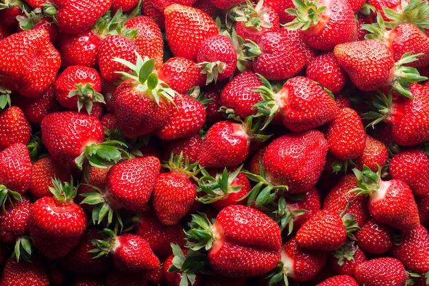 新鮮な熟したイチゴ