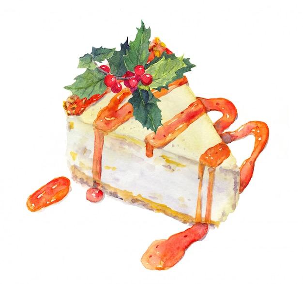 ヤドリギとクリスマスチーズケーキ