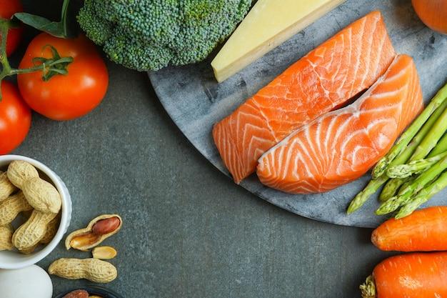 食事と健康食品の選択