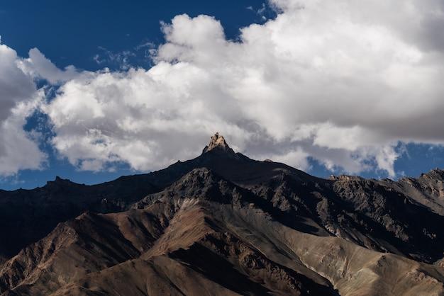 白い雲とピークと青空に日光と山の風景