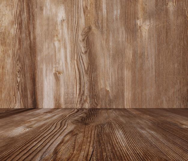 ウッドテクスチャ、木製の壁、モンタージュ製品の床