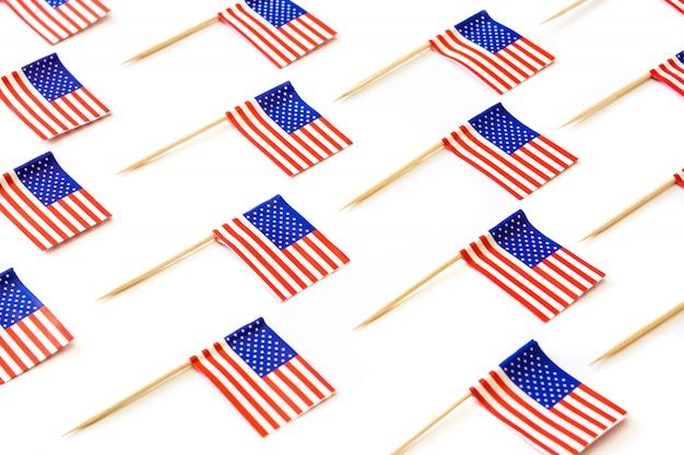 白の米国旗パターン