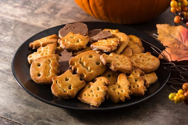 面白いハロウィーンのクッキー
