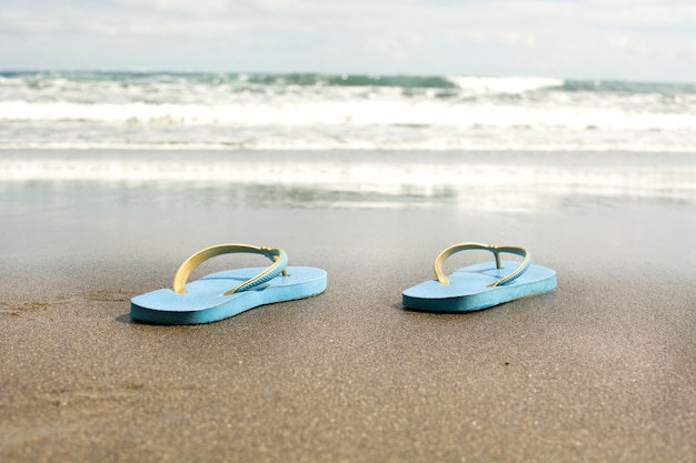 砂の上の夏の靴