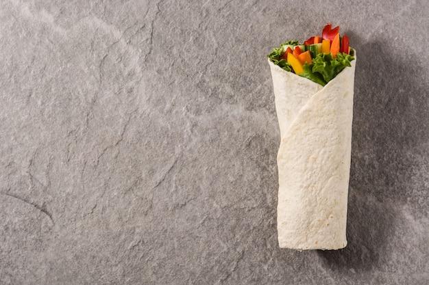 Овощной тортилла фон