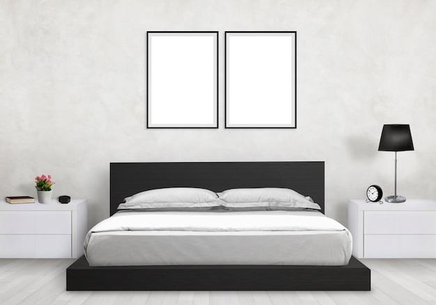 モダンなインテリアの寝室