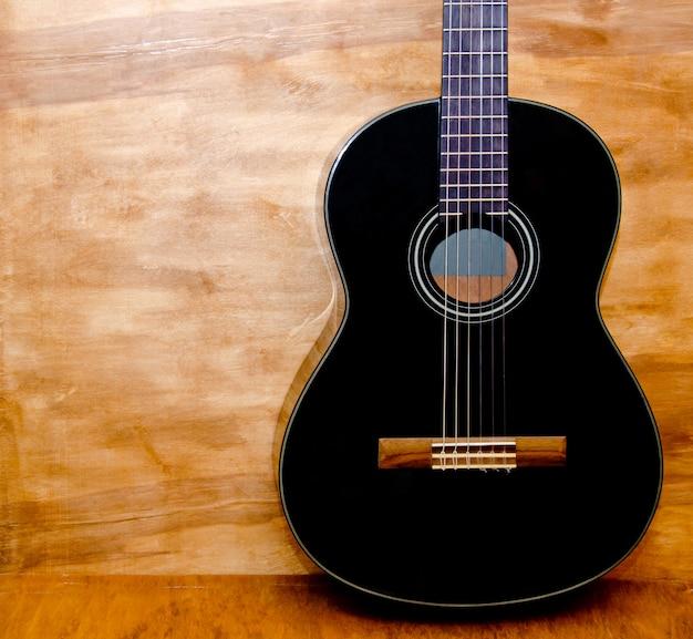 ブラックアコースティックギター