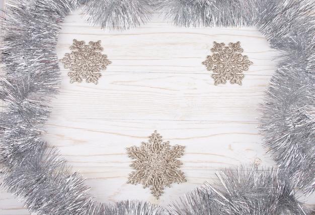 クリスマスの飾りと白の銀見掛け倒し
