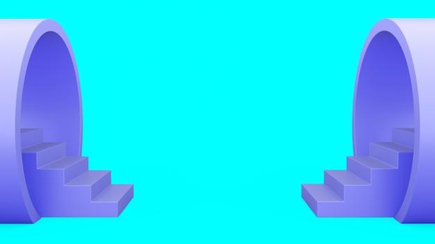 Абстрактная геометрия. лестница из трубы.