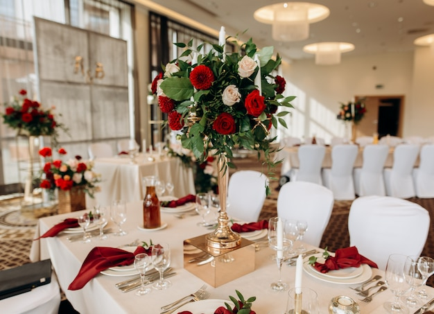Красивая свадьба настроена. свадебная церемония