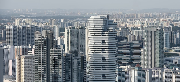 シンガポールの住宅街の空撮