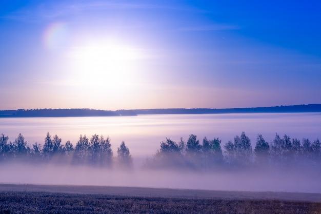 夏の日の出の美しい風景