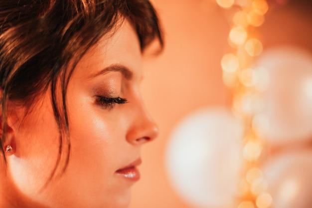 美しいエレガントな花嫁の肖像画