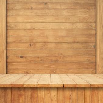 木製の壁と木製の床板