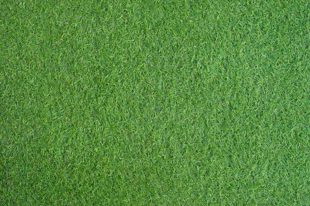 人工の緑の芝生のテキストと背景