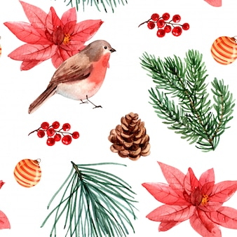 シームレスなクリスマスのパターン