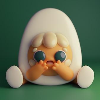 かわいい卵のキャラクター