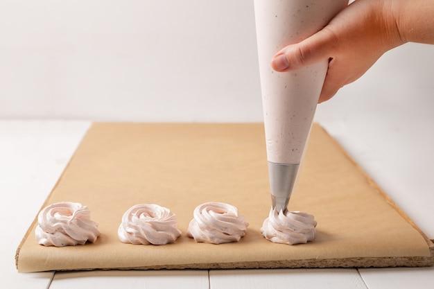 Процесс изготовления зефира