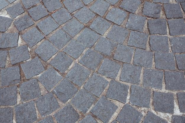 石畳の道路の背景